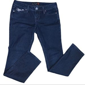 2/$50 Guess Stretch Skinny Gem Embellished Jeans